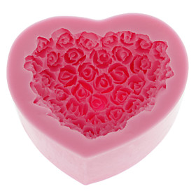 Silicone Cake Mold Bake ware Decorating Gum Paste Clay Soap Mold Rose Shaped (1pcs) 832598