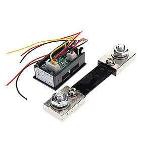 """0.28 """"""""LED Dual Display Digitale Aktuelle Voltmeter  Shunt - Schwarz (100A / 75mV)"""" 877190"""