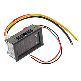 """0.28 """"""""LED Red Dual-Monitor 3-Digital-Strom Spannung Meter / Ampere / Voltage Meter (10A)"""" 877193"""