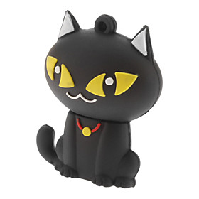 8GB Cute Cat USB Flash Pen Drive Black White 888801