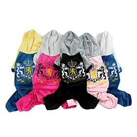 Schöne Velvet Lässige Warm Vierbeinige Hose mit Pullover für Hunde Haustiere (verschiedene Farben, Größen) 835268