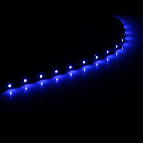 Image of 0.3M 15x1210SMD Cool WhiteBlue Light LED Waterproof Flexible String Light (DC 12V)