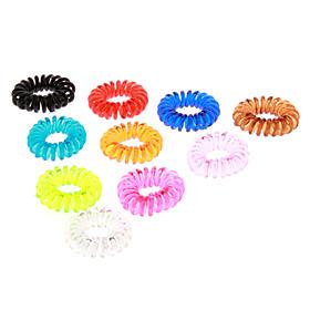(X10) Mode plastique multicolore Cravates Cheveux pour enfants (orange, vert et plus) 855632