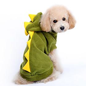 Dog Hoodie Green Winter Animal