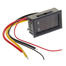 "0.28 """"LED Rot  Blau Doppel-Display Digital Current Meter Spannung / Ampere-Voltage Meter - Schwarz (10A)"" 877189"