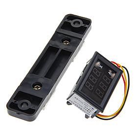 """0.28 """"""""LED Dual Display Digitale Aktuelle Voltmeter  Shunt - Schwarz (50A / 75mV)"""" 877191"""