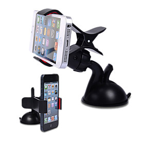 Premium 360 Degree Rotatable Universal Car Holder with Suction Cup for Mobile Phone 955695