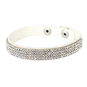 Women's Crystal Tennis Bracelet Leather Bracelet Crystal Leather Imitation Diamond Unique Design Fashion Bracelet Jewelry Silver For Christmas Gifts Party Dail