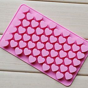 Love Heart Shape Chocolate Tray, Silicone 55 Holes(Color Randoms) CM-87 929113
