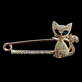 Women's Crystal Fashion Brooch Jewelry For Wedding Party Daily