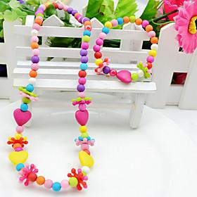 Girls' Love Colorful Party Acrylic Cross 1 Necklace 1 Bracelet 966675