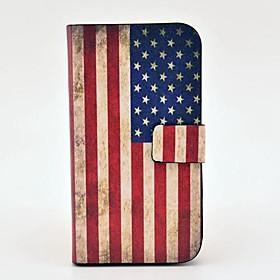 Custodia in pelle Retro America Bandiera del modello PU con magnetica a scatto e slot per schede per Samsung Galaxy S3 I9300