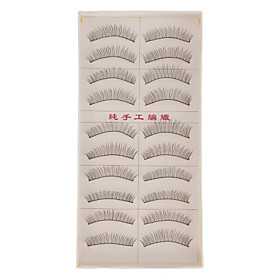 Hand-made Natural False Upper Eyelashes 217 Cosmetic Beauty Care Makeup for Face 1016991