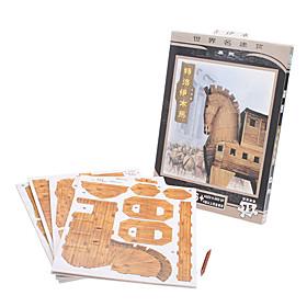 75 Stück Papier DIY 3D Puzzle Trojanisches Pferd 1017547