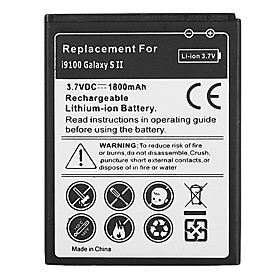1800mAh Cell Phone Battery for Samsung Galaxy S2 GT-i9100 GT-I9003 SII