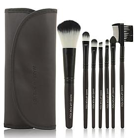 Make-up For You 7pcs Makeup Brushes set Portable/Limits bacteria Black Blush brush Shadow/Eyeliner/Lip Brush Makeup Kit Cosmetic Brushes 1037932