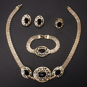 Women's Jewelry Set - Rhinestone, Imitation Diamond Fashion, Bridal Include For Wedding Party Special Occasion / Rings / Earrings / Necklace / Bracelets  Bangl
