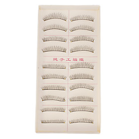 Hand-made Natural False Upper Eyelashes 216 1016990