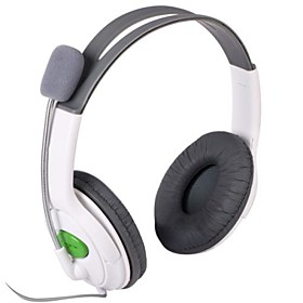 Stylish Stereo Headset Headphone for XBOX 360 - White (2.5mm Plug / 100cm) 1107821