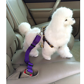 Dog Car Seat Harness / Safety Harness Adjustable / Retractable Safety Solid Colored Nylon Red Blue Pink