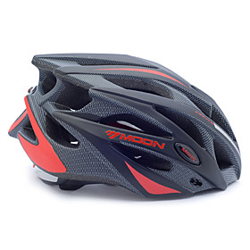MOON Adults Bike Helmet 21 Vents Impact Resistant, Adjustable Fit, Removable Visor EPS, PC Sports Road Cycling / Recreational Cycling / Cycling / Bike - Black