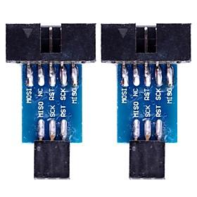 ATMEL ISP Programmer 10 Pin zu 6 Pin-Konverter - Schwarz (2 Stück) 1188925