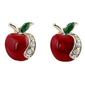 Women's Stud Earrings - Rhinestone, Imitation Diamond Apple Luxury, Fashion For Party Daily Casual
