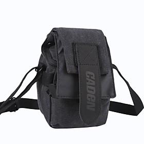 CADEN Waterproof Canvas Mini Shoulder Camera Bag for Sony NEX-7 /6 /5R/ F3 /Canon EOS-M - Sooty Black