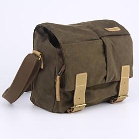 CADEN Camera Bag Waterproof Canvas One Shoulder Bag for Sony NEX-7/NEX-6 Canon EOS-M2 - Dark Coffee
