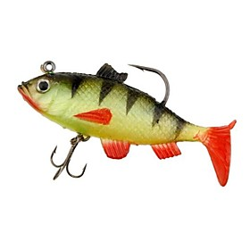 Silicone Soft Multi-section Fishing Lure Crank Bait 1285162
