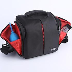 CADEN Nylon impermeavel de um ombro DIY Partition Camera Bag para Canon Nikon Sony SDLR Camera - Preto