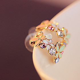 Women's Crystal Stud Earrings Crystal Gold Plated Imitation Diamond Earrings Jewelry Rainbow For Party Daily Casual