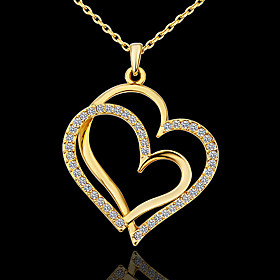 Women's Mother Daughter Pendant Necklace Rhinestone Platinum Plated Ladies Love Simple Style Fashion Golden Necklace Jewelry For Party Daily