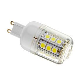 Dimmbare G9 4W 30xSMD 5050 400LM 6000-6500K Cool White Light LED Mais-Birnen (AC 110-130V) 1281179