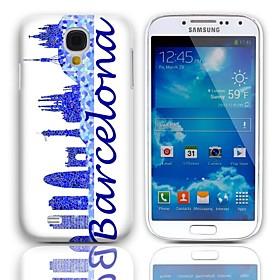 Special Design Barcelona Art-harter Fall mit 3-Pack-Display-Schutzfolien für Samsung Galaxy S4 Mini-I9190 1425331