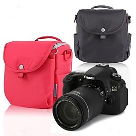 Neppt 2014 New Design Shoulder Bag for Nikon D600 D800 Canon 60D 70D 600D 700D SLR Camera Bag (Red/Grey)