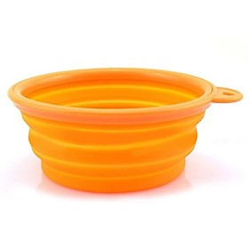 L Cat / Dog Bowls  Water Bottles Pet Bowls  Feeding Portable / Foldable Red / Green / Blue 1330677