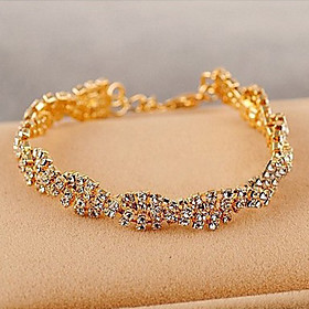 Men's Crystal Tennis Bracelet Crystal Rhinestone Gold Plated Ladies Unique Design Fashion Bracelet Jewelry Golden For Wedding Party Daily Casual Masquerade Eng
