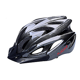 FJQXZ Adults Bike Helmet 18 Vents Impact Resistant Removable Visor Ventilation EPS PC Sports Road Cycling Cycling / Bike - Black Men's Women's