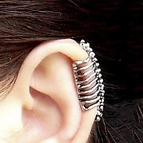 Women's Ear Cuff Earrings Skull Ladies Jewelry Silver For Party Daily Casual 1pc