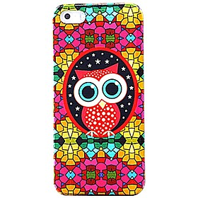 Colorful Glasses Owl Pattern Case for iPhone 5/5S 1436098