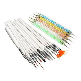 20pcs nail art suits 15pcs nail art painting brush kits 5pcs 2 way nail art dotting tools kits