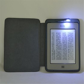 Shy Bear(tm) With LED Light Slim Smart PU Leather Cover Case for Amazon Kindle Touch Multi Color