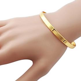 U7 Simple Design Vintage Bangles For Women Or Men 18K Real Gold Plated Cool Fashion Jewelry Bracelets
