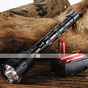 TrustFire 3T6 3800 lumens flashlight 3 x CREE XM-L 5-Mode 3  Cree LED Flashlight  318650 Butteries  Charger