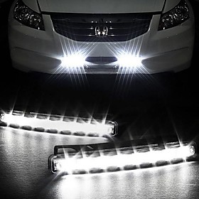 Reallink   Super White 8LED Universal Car Light LED Daytime Running  DRL Light Car Lamps DRL