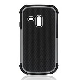 2-in-1 design Hexagon modello rigido con silicone all'interno della copertura per Samsung Galaxy S3 Mini i8190 (colori assortiti)