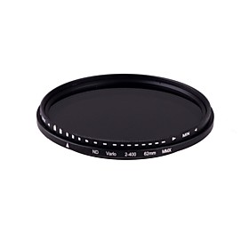 New  62mm Slim Fader Variable ND Filter Adjustable ND2 to ND400 Neutral Density Free shipping 1451427
