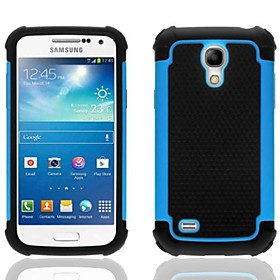 2-in-1 Design Hexagon Pattern Hard Case with Silicone Inside Cover for Samsung Galaxy S4 Mini i9190(Assorted Colors)