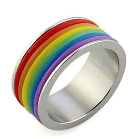 LuremeStainless Steel Rainbow Rings
